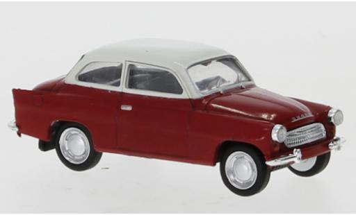 Skoda Octavia 1/87 Brekina red/white 1960 diecast model cars