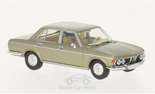 Bmw 3.0 S 1/87 Brekina i metallise beige diecast model cars