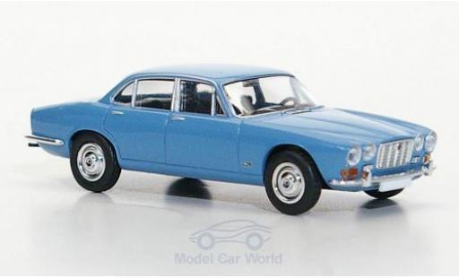 Jaguar XJ 6 1/87 Brekina bleue miniature