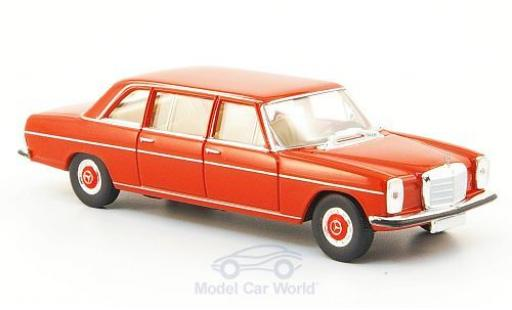 Mercedes 220 1/87 Brekina D lang (W115) red diecast model cars