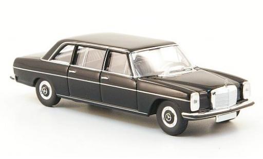 Mercedes 220 1/87 Brekina Starmada D lang (W115) nero miniatura