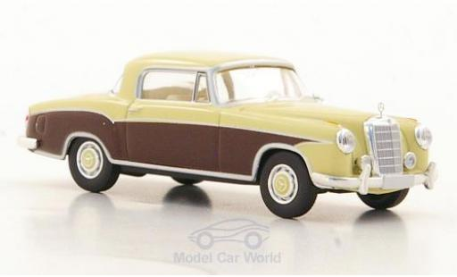Mercedes 220 1/87 Brekina S Coupe (W180 II) beige/marron miniature