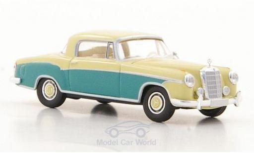 Mercedes 220 1/87 Brekina S Coupe (W180 II) beige/verte miniature