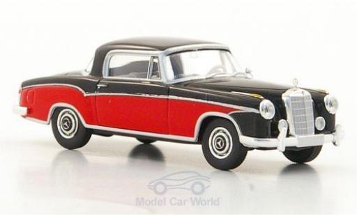Mercedes 220 1/87 Brekina S Coupe (W180 II) noire/rouge miniature