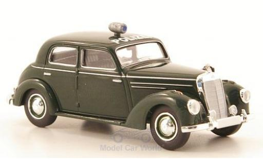 Mercedes 220 1/87 Brekina (W187) green Polizei (D) diecast model cars