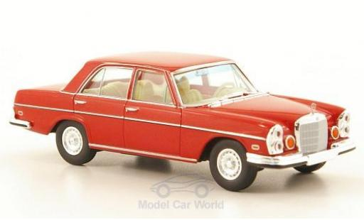 Mercedes 280 SE 1/87 Brekina Starmada SE 4.5 (W108) rouge US-Version miniature