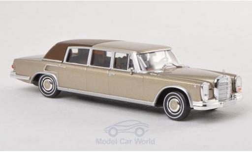 Mercedes 600 1/87 Brekina Landaulet gold Verdeck geschlossen diecast model cars