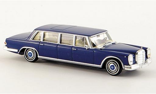 Mercedes 600 1/87 Brekina Pullman Limousine azul coche miniatura