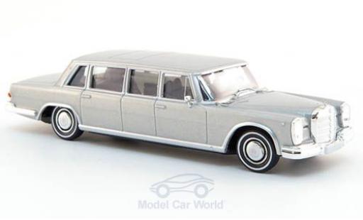 Mercedes 600 1/87 Brekina Pullman Limousine grise miniature
