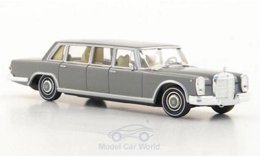 Mercedes 600 1/87 Brekina (W100) Pullman Limousine grise miniature