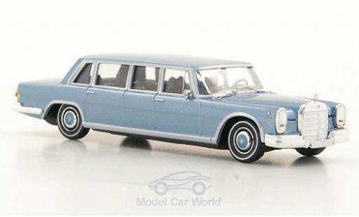 Mercedes 600 1/87 Brekina (W100) Pullman Limousine metallise bleue miniature
