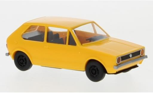 Volkswagen Golf 1/87 Brekina I yellow 1974 diecast model cars