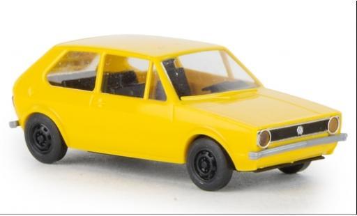 Volkswagen Golf 1/87 Brekina I yellow 1974 diecast model cars