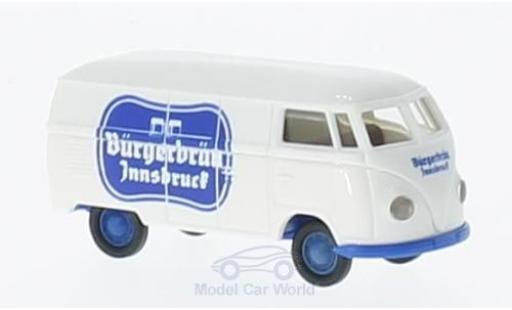 Volkswagen T1 B 1/87 Brekina a ürgerbräu Innsbruck Kasten modellino in miniatura