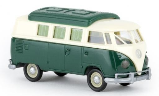 Volkswagen T1 1/87 Brekina b Camper beige/verde 1960 avec Dormobildach coche miniatura