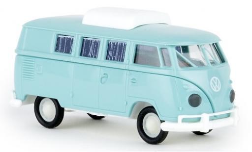 Volkswagen T1 1/87 Brekina b Camper turquesa 1960 avec toit extensible coche miniatura