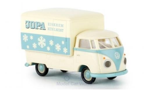 Volkswagen T1 1/87 Brekina b Großraum-Koffer Jopa Eiskrem 1960 diecast