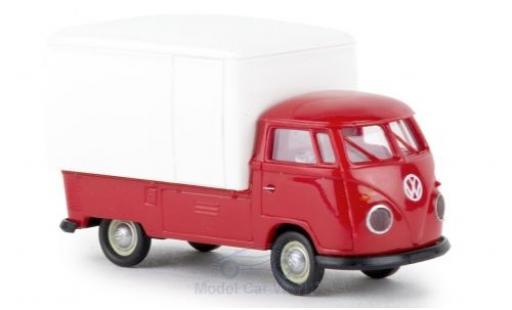 Volkswagen T1 1/87 Brekina b Großraum-Koffer rouge/blanche 1960 miniature