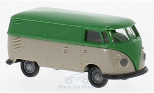 Volkswagen T1 B 1/87 Brekina b Kasten verte/grise miniature