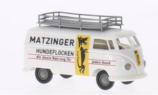 Volkswagen T1 1/87 Brekina b Kasten Matzinger Hundeflocken coche miniatura
