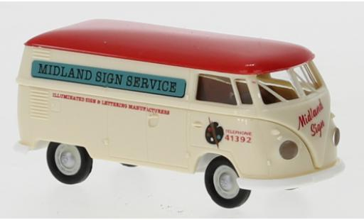 Volkswagen T1 1/87 Brekina b Kasten Midland Sign Service 1960 diecast model cars