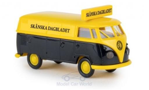 Volkswagen T1 B 1/87 Brekina b Kasten Skanska Dagbladet miniature