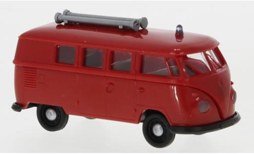 Volkswagen T1 1/87 Brekina b Kombi Feuerwehr 1960 coche miniatura