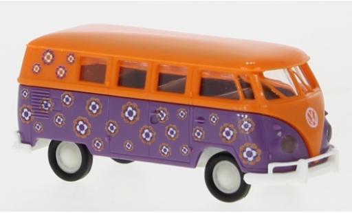 Volkswagen T1 1/87 Brekina b Kombi Hippieblumen 1960 coche miniatura