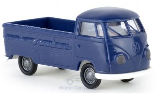 Volkswagen T1 1/87 Brekina b Pritsche blue Economy diecast