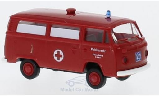 Volkswagen T2 B 1/87 Brekina Bus Werkfeuerwehr ZF miniature