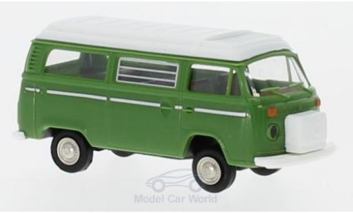 Volkswagen T2 A 1/87 Brekina Camper grün mit Aufstelldach diecast