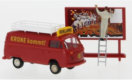 Volkswagen T2 1/87 Brekina Kasten Circus Krone Reklame 1973 avec figurine miniature