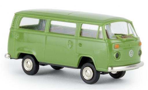Volkswagen T2 1/87 Brekina Kombi verde 1972 coche miniatura