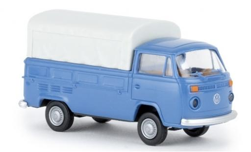 Volkswagen T2 1/87 Brekina Pritsche azul 1972 coche miniatura