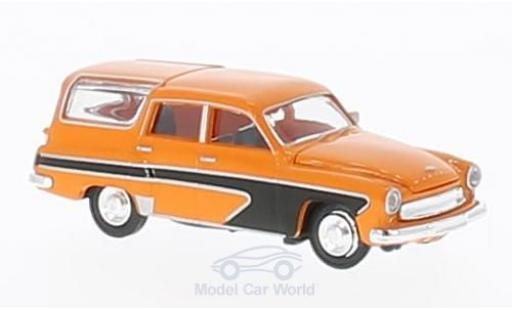 Wartburg 311 1/87 Brekina Camping orange/noire miniature