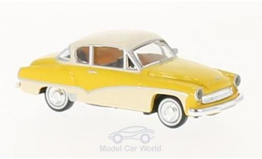 Wartburg 311 1/87 Brekina Coupe jaune/blanche miniature