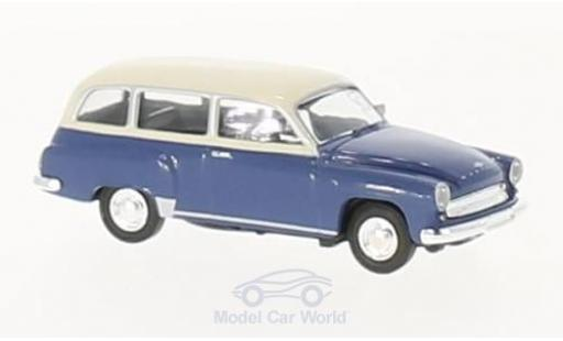 Wartburg 311 1/87 Brekina Kombi bleue/beige miniature