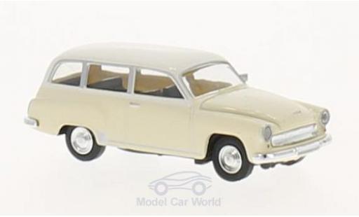 Wartburg 311 1/87 Brekina Kombi beige/blanche miniature