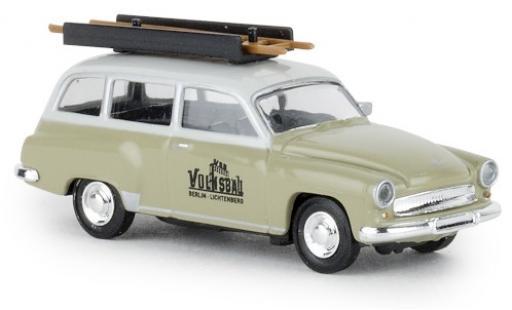 Wartburg 311 1/87 Brekina Kombi VEB Volksbau 1965 miniatura
