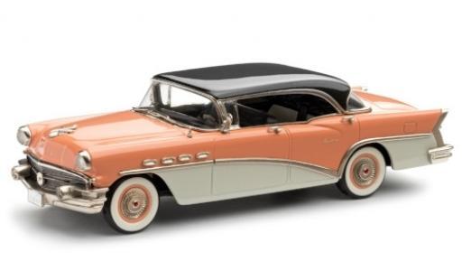 Buick Century 1/43 Brooklin 4-Door Hardtop rose/blanche 1956 noir toit miniature