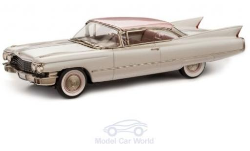 Cadillac Series 62 1/43 Brooklin Coupe metallise blanche/metallise rose 1960 miniature