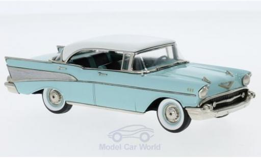 Chevrolet Bel Air 1/43 Brooklin 4-Door HardTop turquoise/blanche 1957 miniature