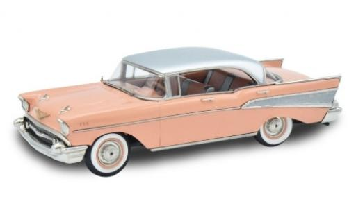 Chevrolet Bel Air 1/43 Brooklin Four-Door Hardtop rose/grise 1957 miniature
