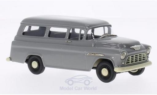 Chevrolet Suburban 1/43 Brooklin Carryall grise 1955 miniature