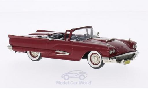 Ford Thunderbird 1/43 Brooklin Convertible dunkelrouge 1959 miniature