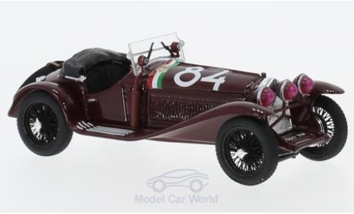 Alfa Romeo 1750 1/43 Brumm GS RHD No.84 Mille Miglia 1930 T. Nuvolari/G-B.Guidotti miniatura