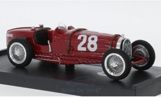 Bugatti Type 59 1/43 Brumm No.28 Formel 1 GP Monaco 1934 T.Nuvolari miniatura