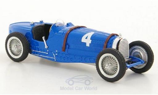 Bugatti Type 59 1/43 Brumm No.4 Formel 1 GP Belgien 1934 R.Dreyfus miniatura