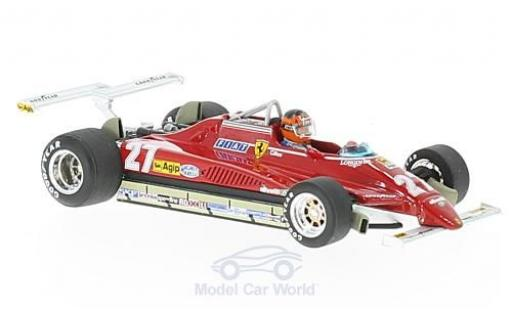 Ferrari 126 1/43 Brumm C2 Turbo No.27 Formel 1 GP Long Beach 1982 mit Fahrerfigur G.Villeneuve miniature