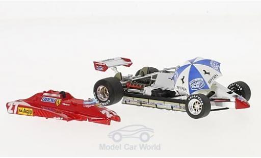 Ferrari 126 1982 1/43 Brumm C2 Turbo No.27 Formel 1 GP San Marino mit Rennfahrer und Schirm G.Villeneuve diecast model cars